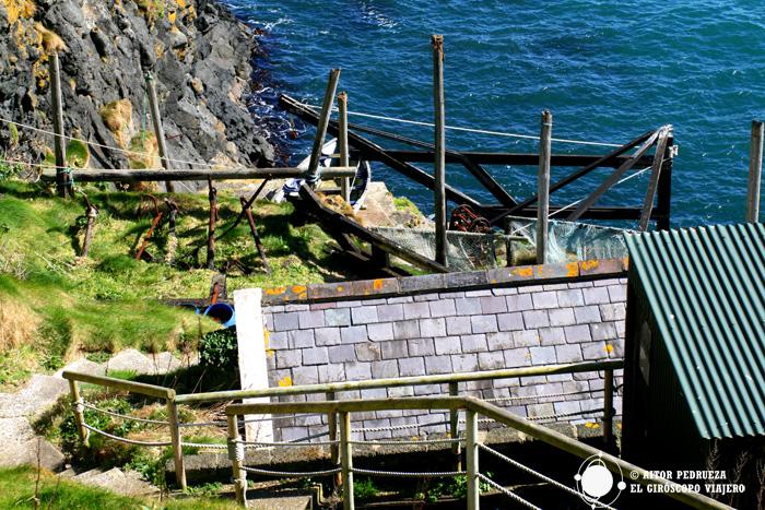 Las antiguas instalaciones de pesca de salmón en Carrick a Rede