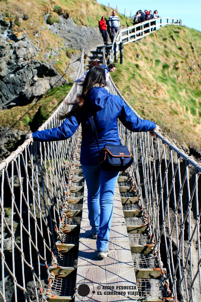 Cruzando el puente de Carrick a Rede