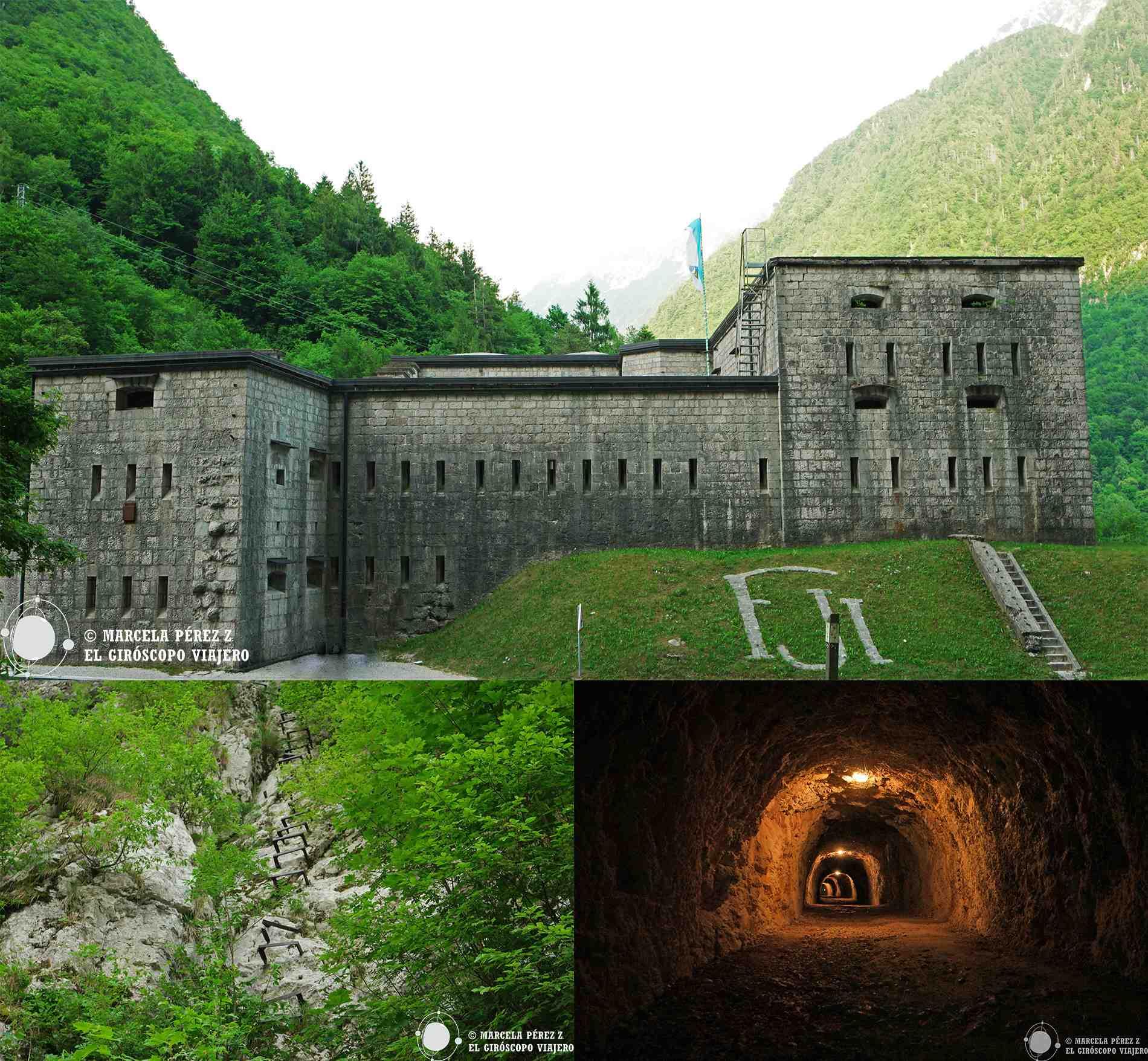 El fuerte Kluže y la galería a Fort Hermann
