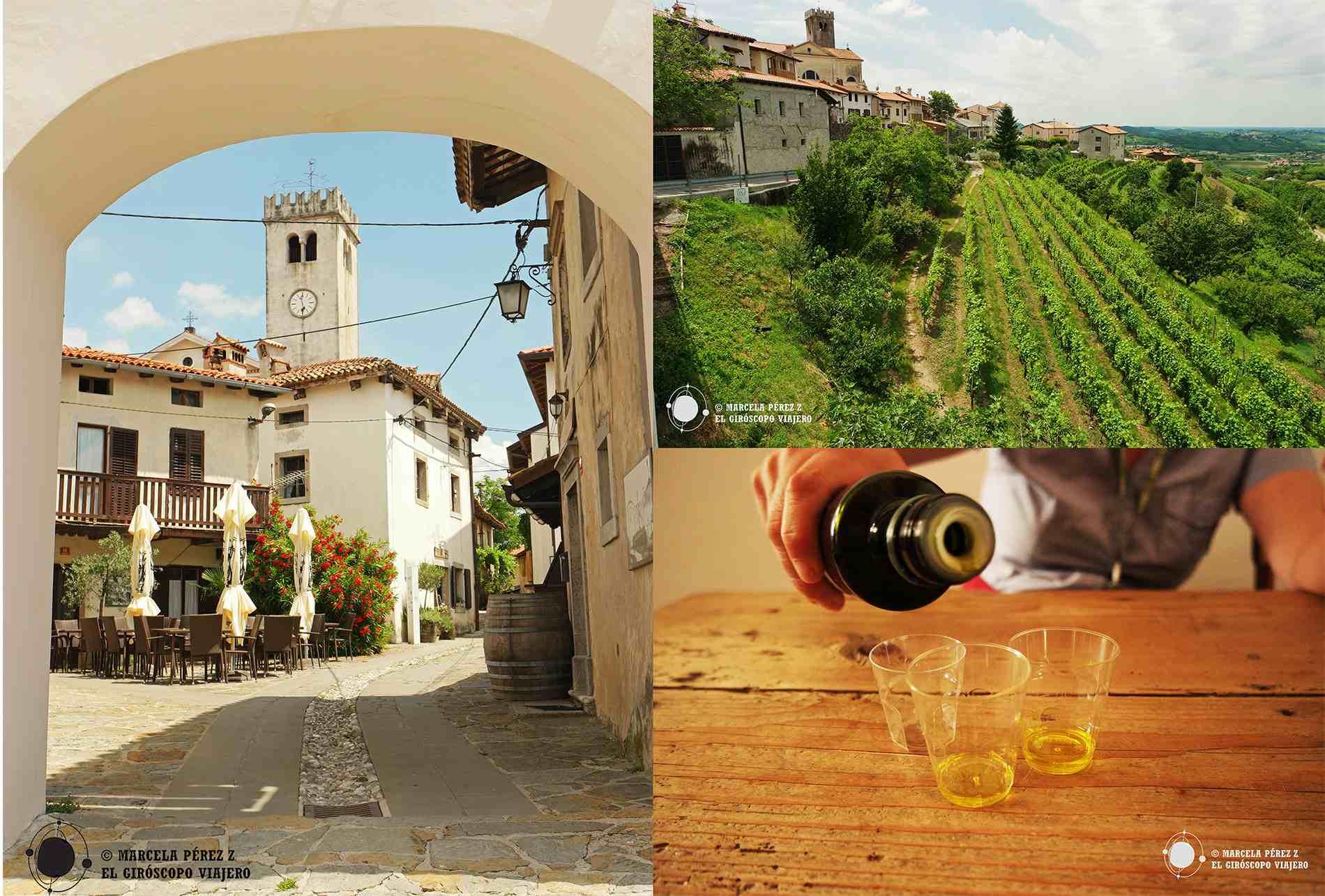 Pueblo de Šmartno en Brda, la zona vinícola del oeste de Eslovenia