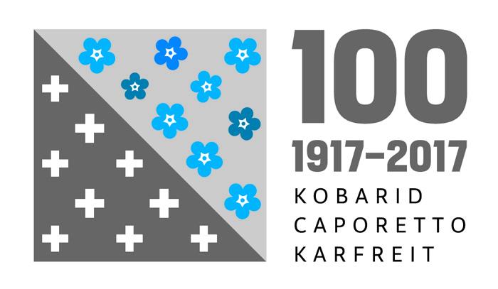 Logo del Centenario de la Batalla de Caporetto - Kobarid