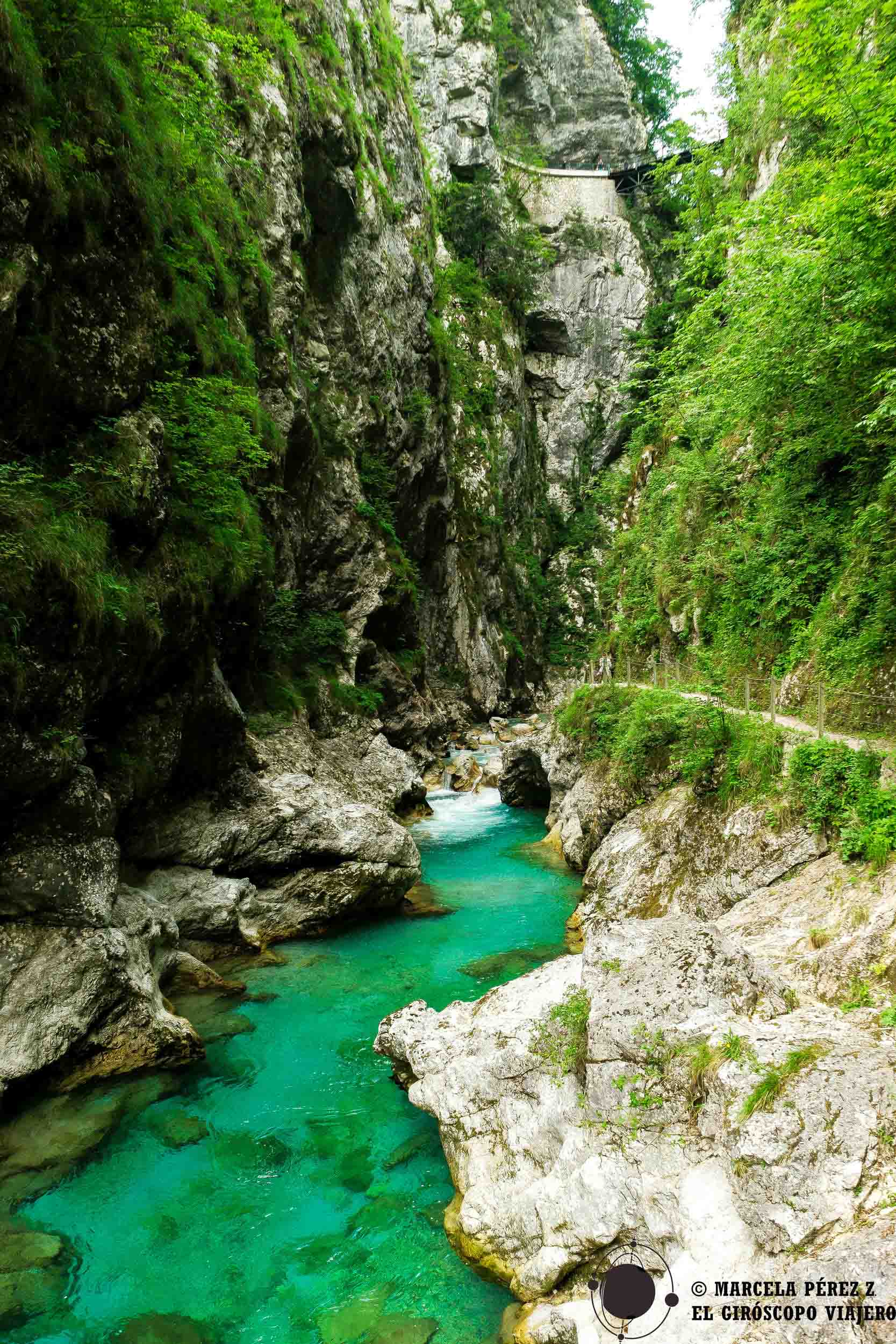 Gargantas de Tolmin en Eslovenia