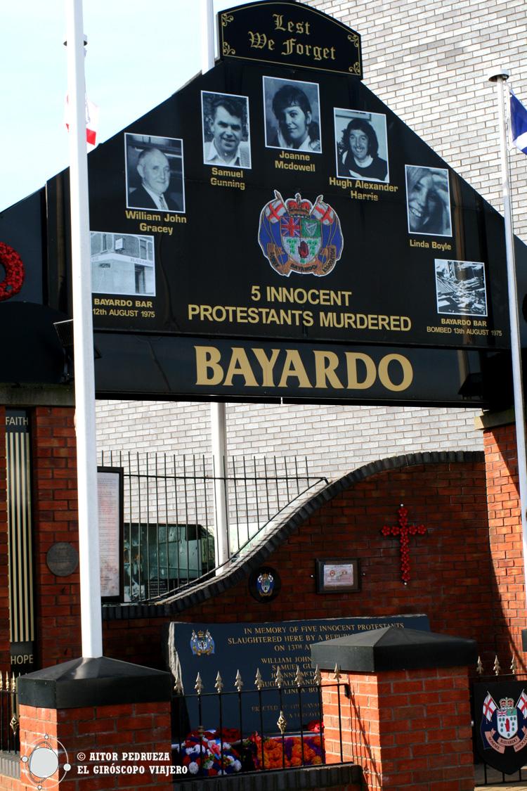 Memorial a los muertos del Bayardo Bar