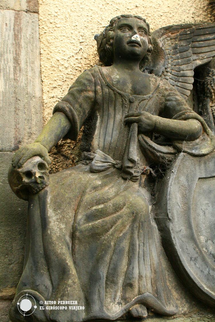 Decoración mortuoria en el cementerio de Greyfriars