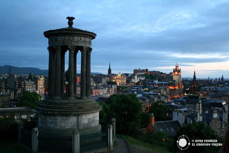Una de las mejores vistas de la ciudad desde Calton Hill