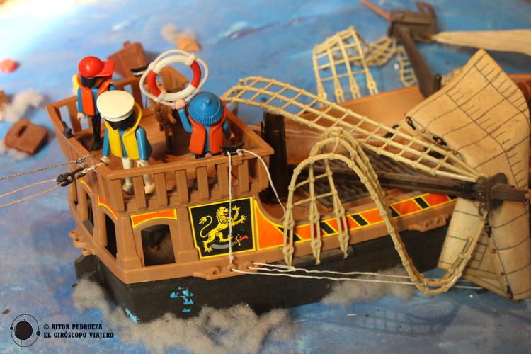 Playmobil en el museo marítimo de Bilbao