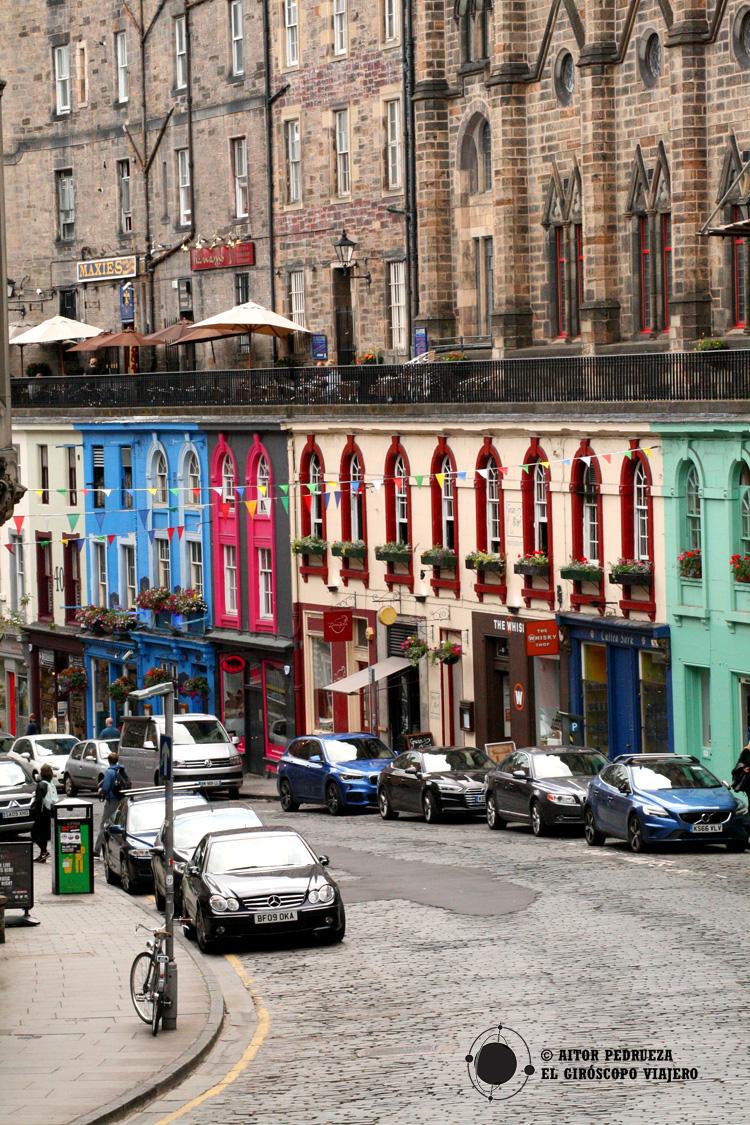 Casas de colores en Victoria Street
