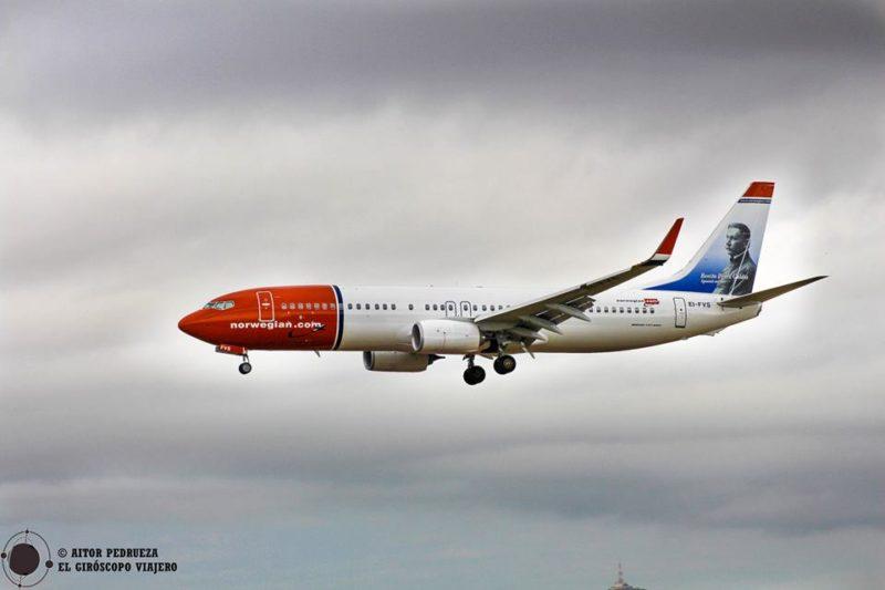Aviones aterrizando en el aeropuerto del Prat de Barcelona