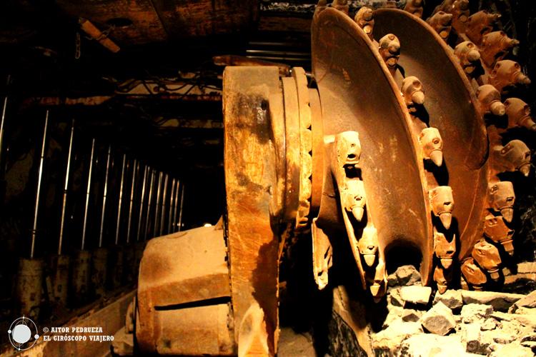 Interior de la mina de Serbariu en Carbonia