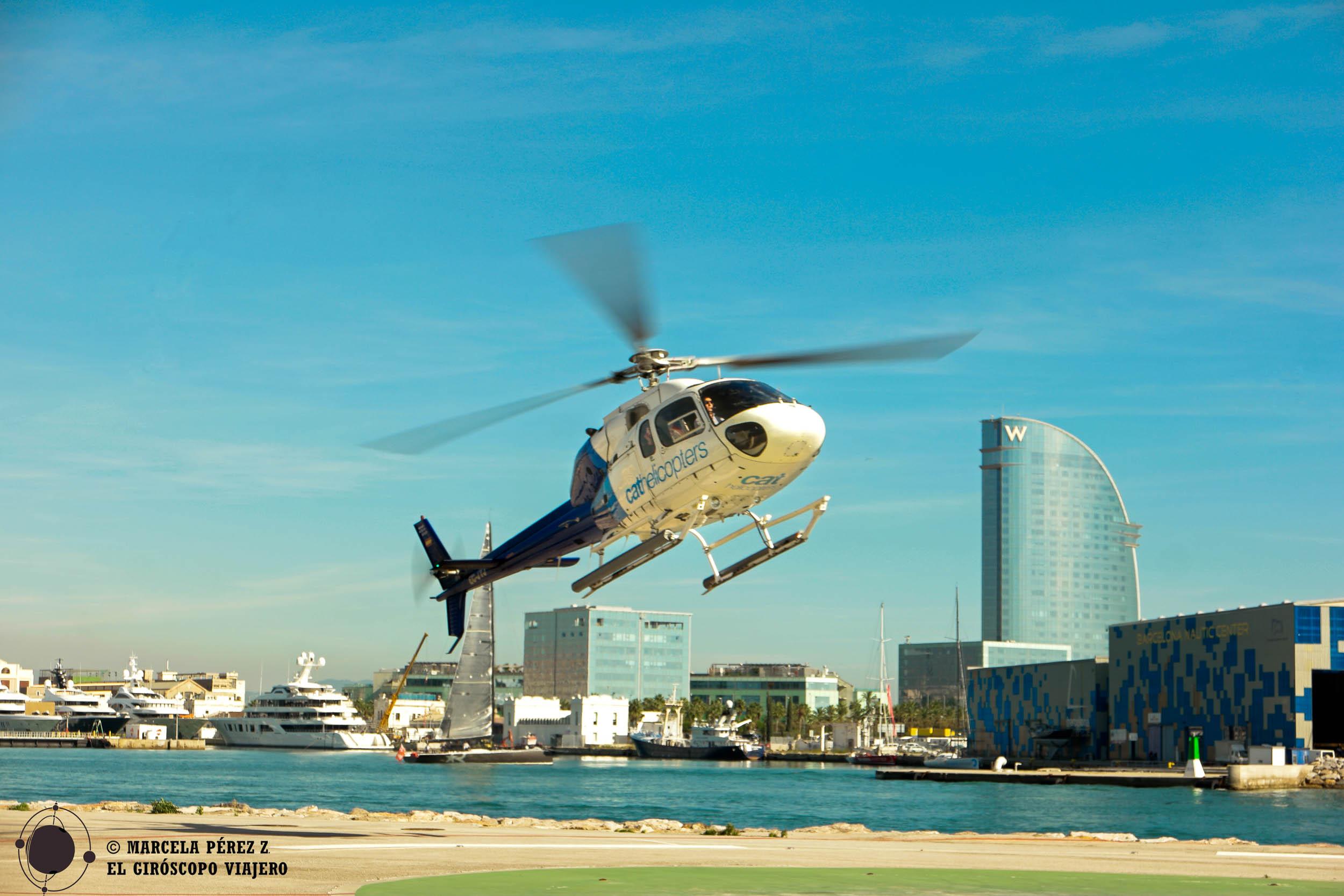Helicóptero aterrizando