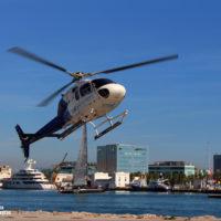 Vuelo en helicóptero sobre el cielo de Barcelona