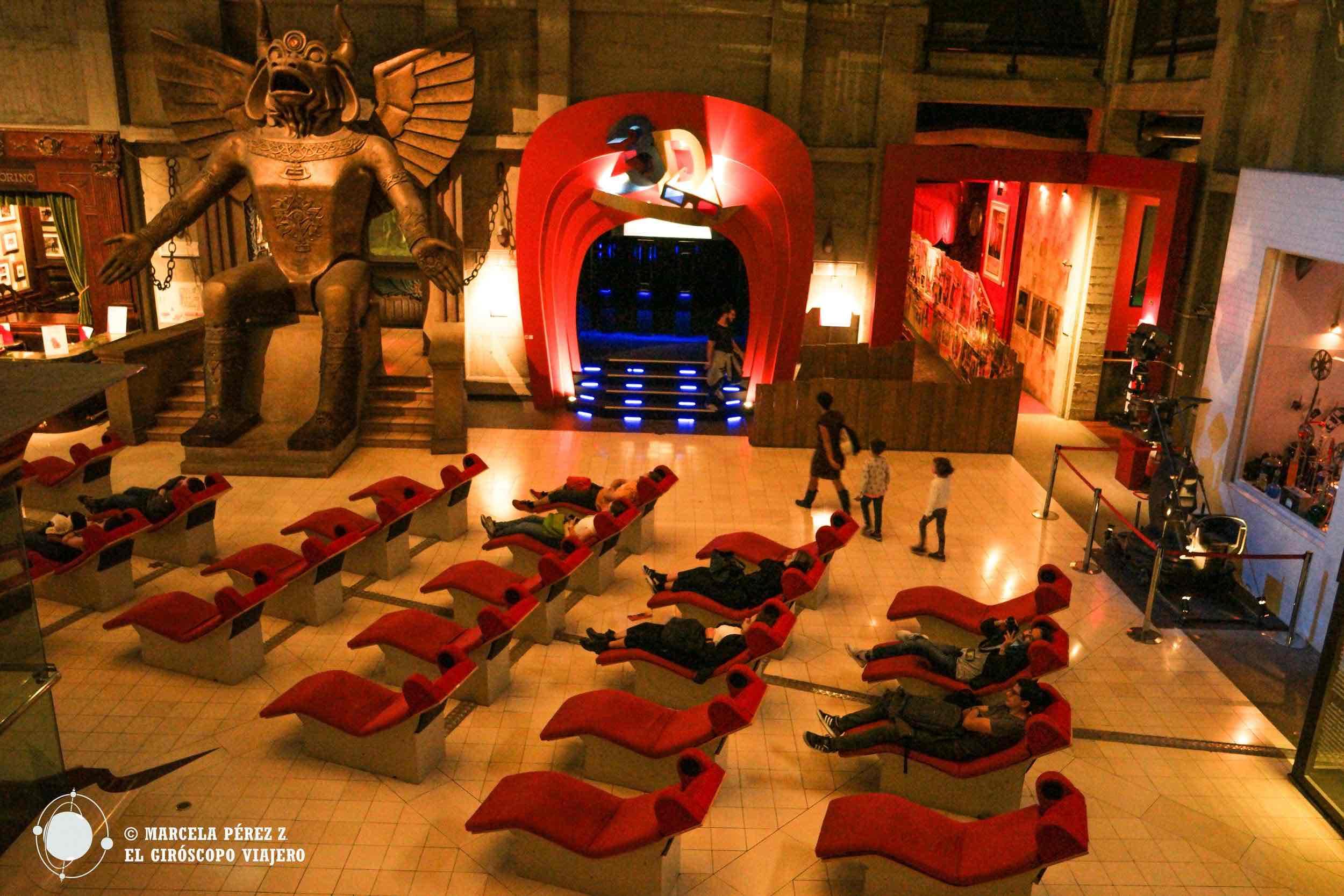 Una sala de cine en medio de la Mole Antonelliana para disfrutar algún filme mientras descansamos los pies