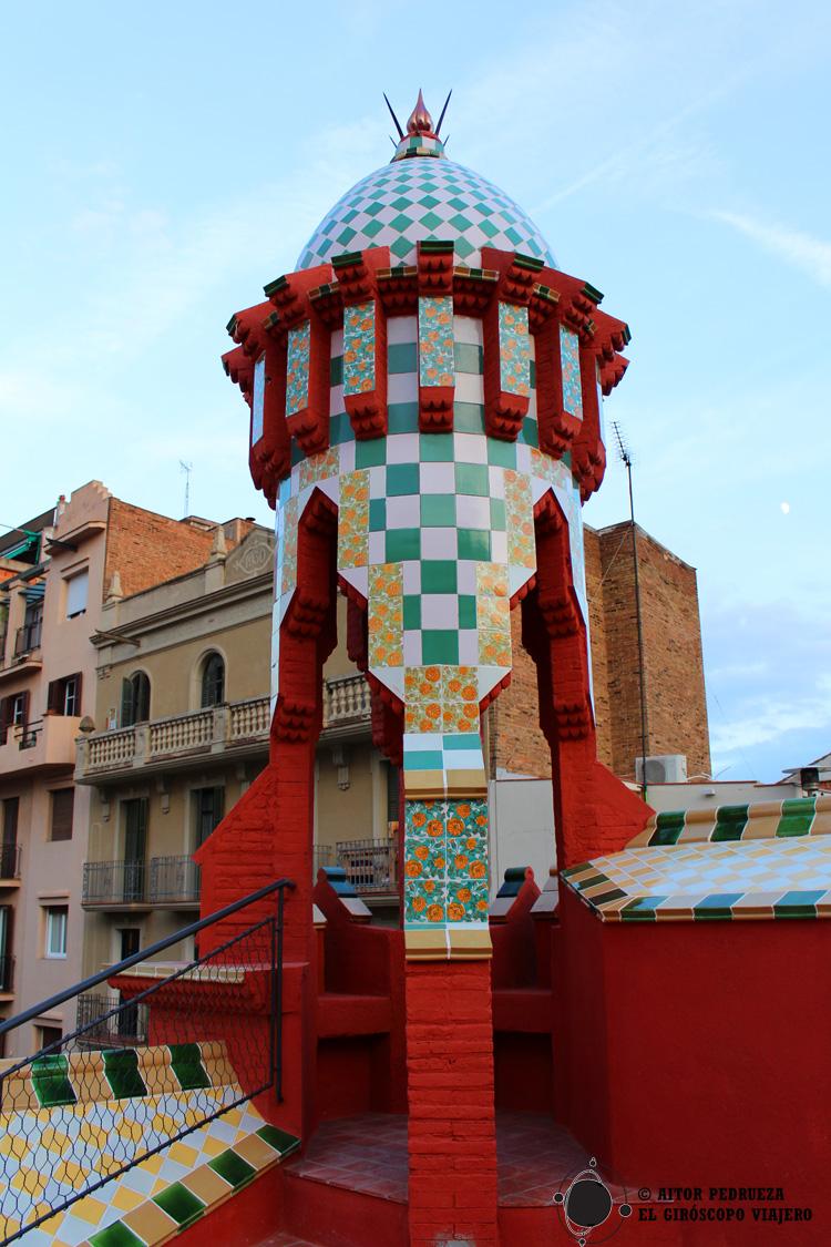 Casa vicens primera casa gaud barcelona visita for La azotea de la casa de granada