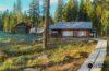 Alojarse en una cabaña en Finlandia. En la belleza de los bosques de Koli, Carelia