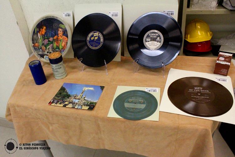 Piezas del archivo de la Fonoteca Nacional