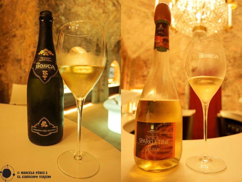 """Catamos un delicioso vino espumante """"Riserva del nonno"""" (Reserva del abuelo) y un Sparkletini de sabores delicados ©Marcela Pérez Z."""
