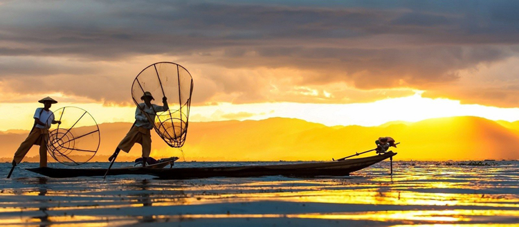 Pescadores en el Lago Inle
