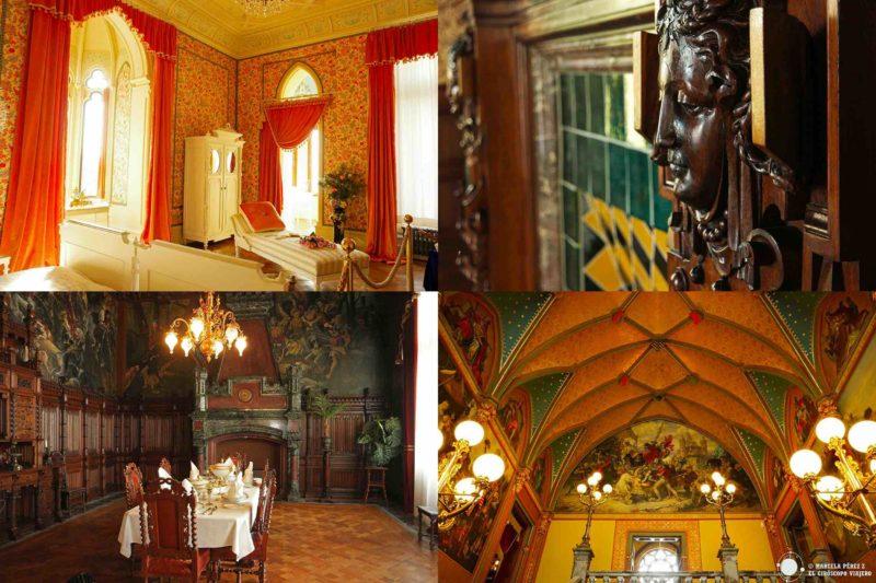 Castillo de Drachenburg que nos permiten apreciar la suntuosidad del Palacio