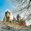 Dragones y leyendas en el Castillo de Drachenburg en Alemania