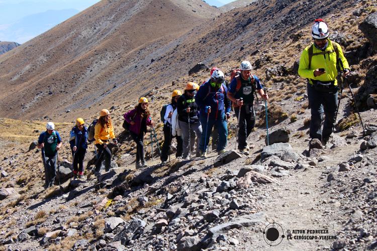 Ascenso al pico del Nevado de Toluca