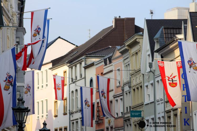 Calles del centro de Bonn, engalanadas para el Carnaval