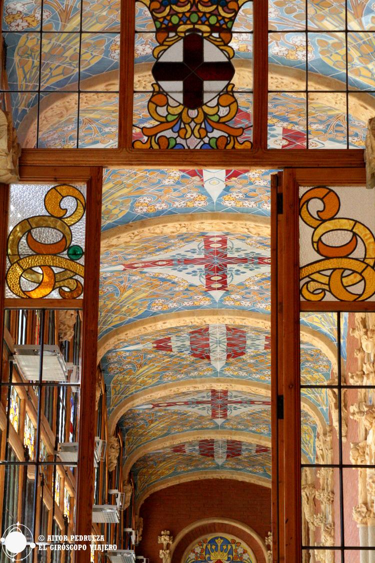 Techos de los edificios de administración del hospital Sant Pau