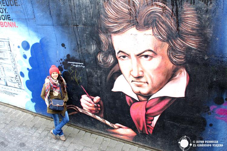 Graffitti de Beethoven en las calles de Bonn, Alemania