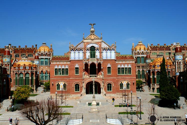 Recinto modernista del complejo del Hospital Sant Pau de Barcelona