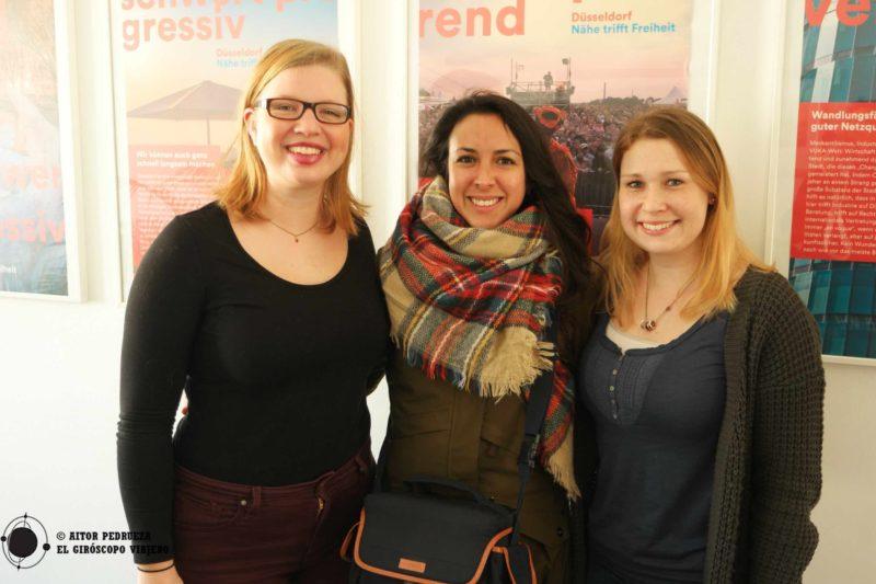 Nuestras encantadoras anfitrionas de la oficina de turismo de Düsseldorf