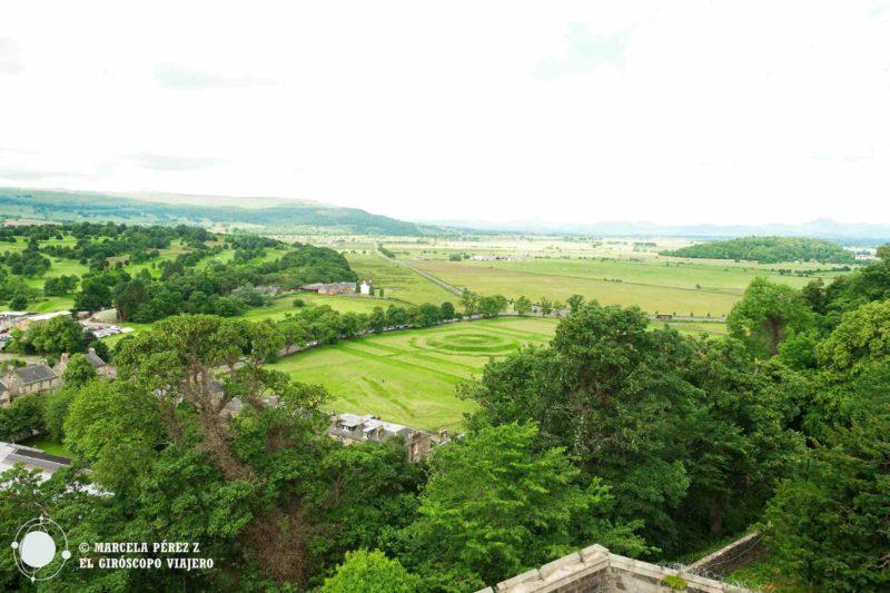 Desde lo alto de la Antigua Prisión de Stirling podemos apreciar el Nudo del Rey ©Marcela Pérez Z.