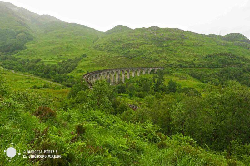 Inmerso entre la abundante vegetación de los paisajes escoceses encontramos el puente ©Marcela Pérez Z.