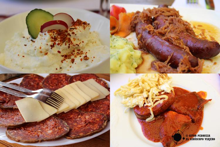Platos de la gastronomía de Eslavonia