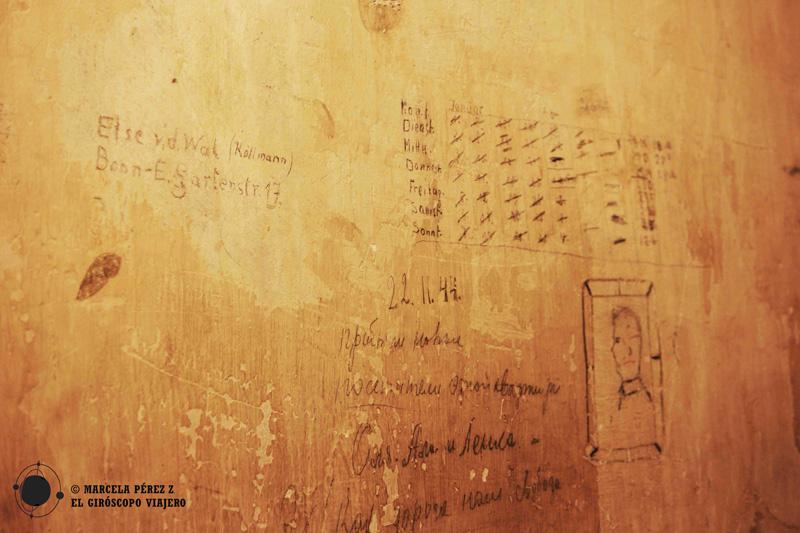 Grafitti en las celdas del EL-DE Haus de Colonia
