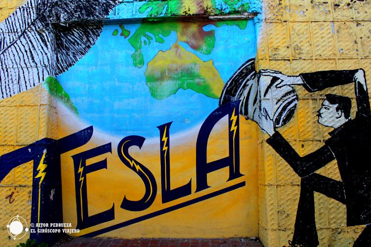 Graffitti de Tesla en Zagreb