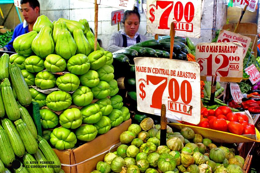 Productos en la Central de Abastos de Ciudad de México
