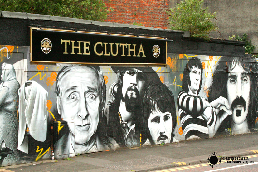 Mural del pub The Cuthla en Glasgow