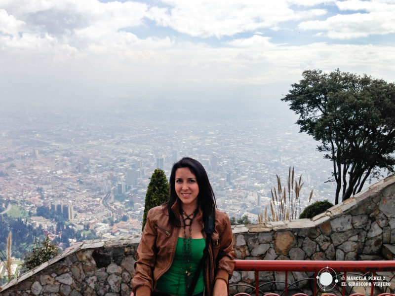 Vistas de Bogotá desde el cerro de Monserrate