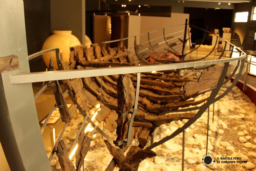 Pecio de Urbieta expuesto en el Museo de Arqueología de Bilbao