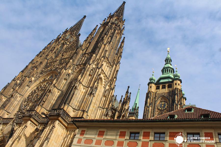 Catedral de San Vito dentro de la ciudadela del Castillo de Praga