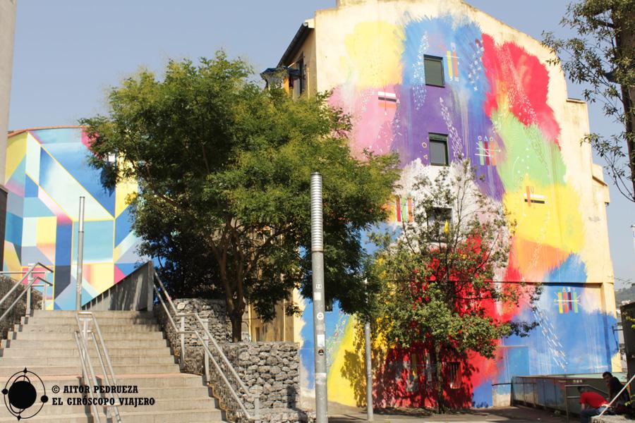 Graffiti Futurismo primitivo en las Cortes