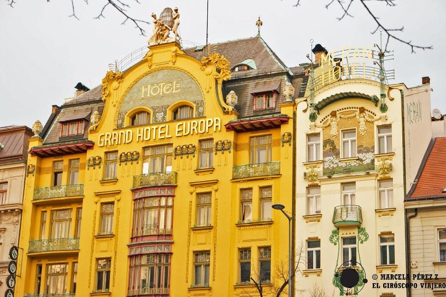 Edificio del Grand Hotel Europa de Praga