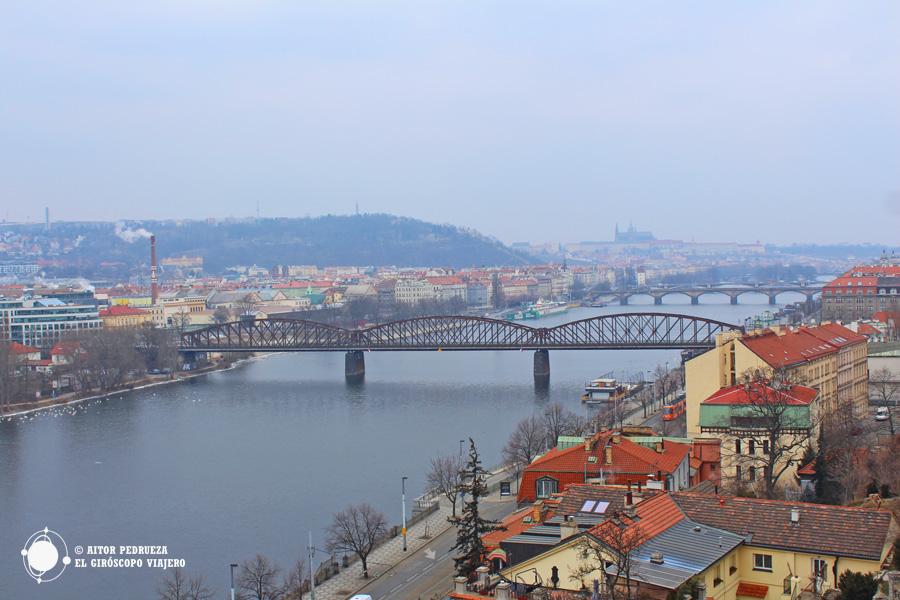 Vistas de Praga desde la Fortaleza de Vyšehrad