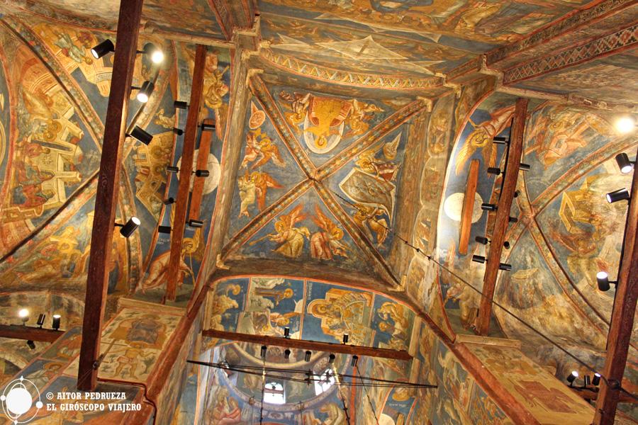 Frescos del Monasterio de Visoki Decani en Kosovo