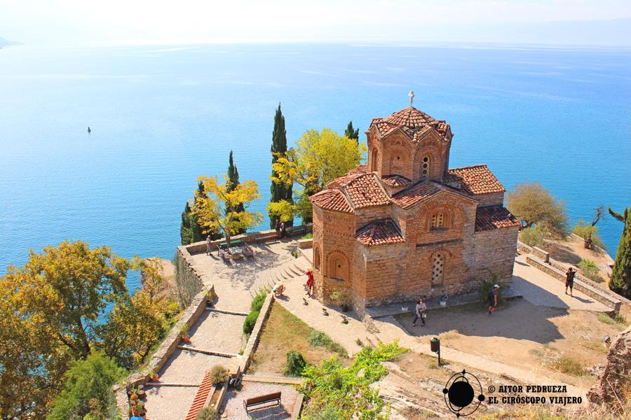 San Juan el Teólogo, Kaneo frente al lago Ohrid