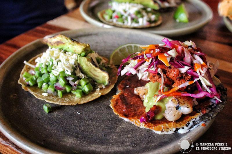 No podían faltar los Tacos en la carta del restaurante Parcela