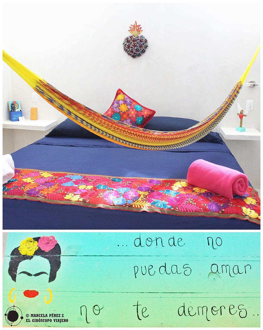 Colores cálidos en el hotel con encanto Corazón Mexicano