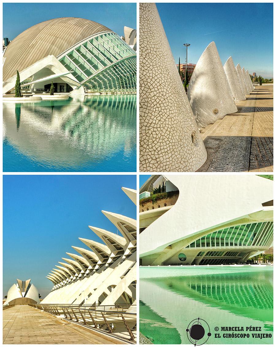 Edificios de la Ciudad de las Artes y las Ciencias de Valencia