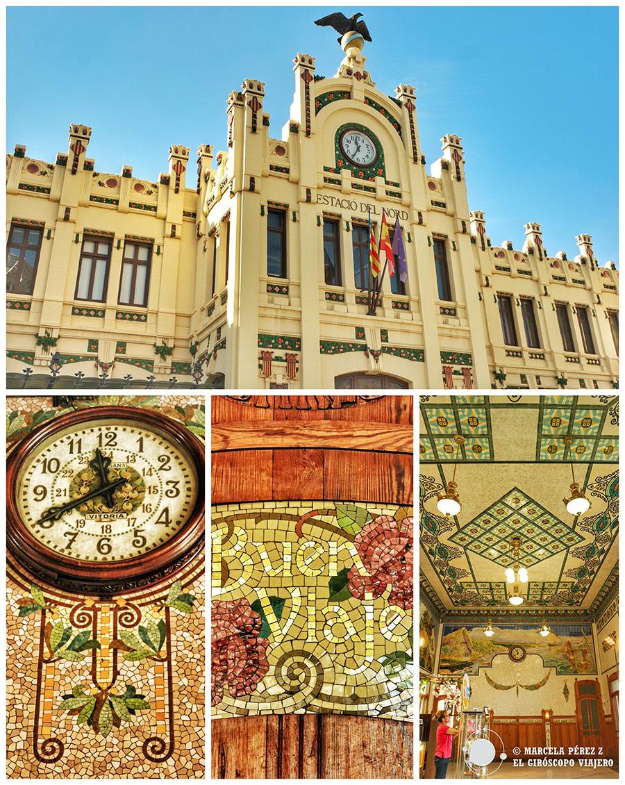 La preciosa estación del Norte en Valencia