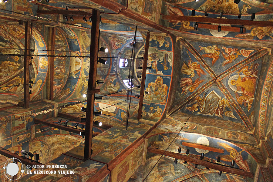 Frescos del interior del Monasterio Visoki Decani