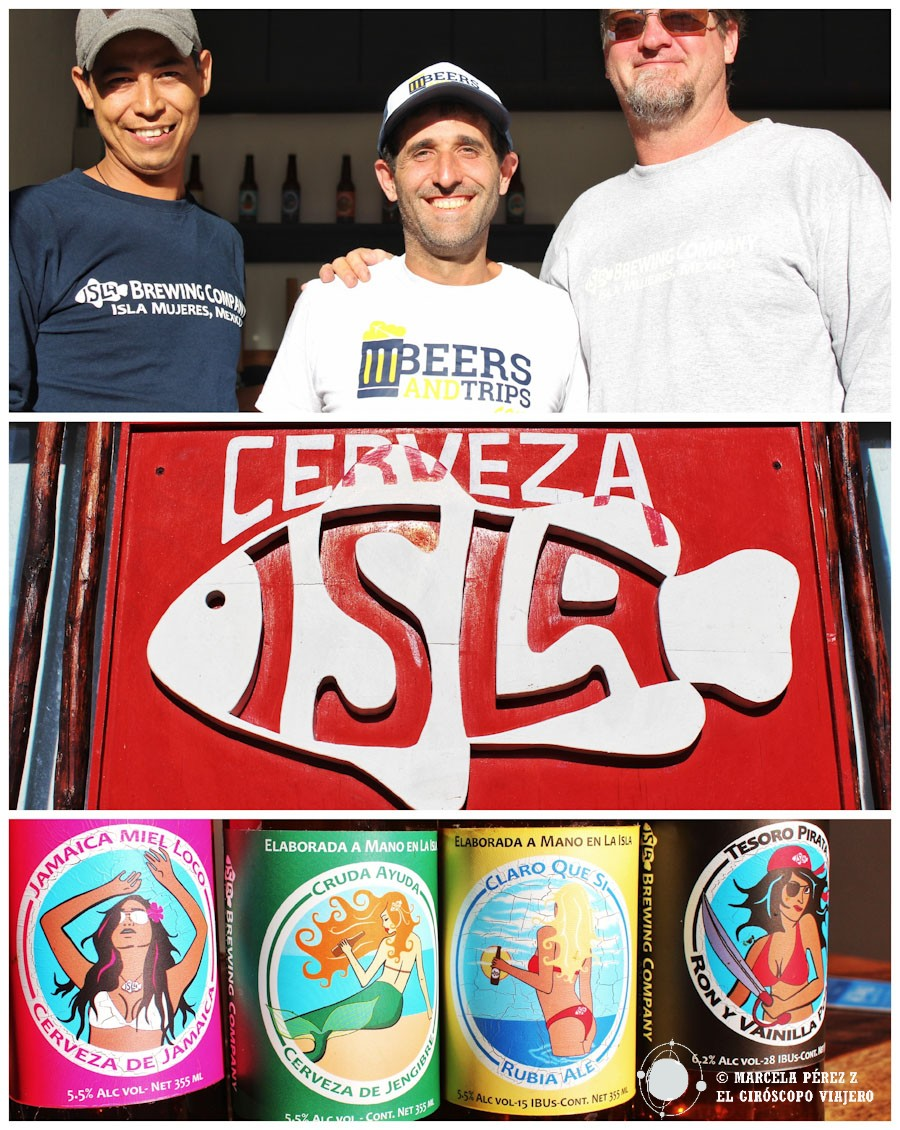 Beers and Trips con Isla Brewing Company disfrutando de sus ricas cervezas artesanales ©Marcela Pérez Z.